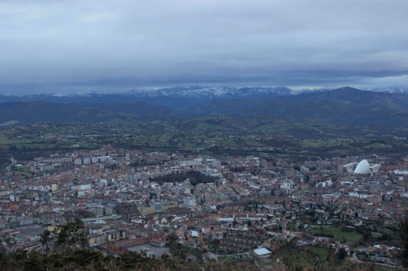 Oviedo from top of mt. naranco